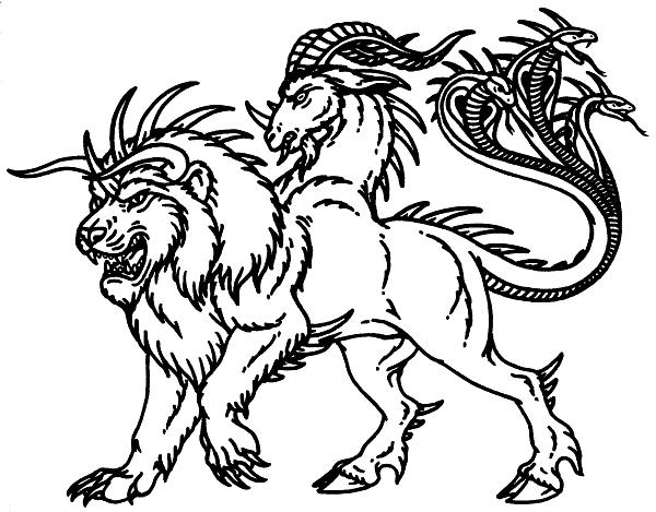 the creature outside my window nosleep Cerberus Coloring Pages  Chimera Coloring Pages