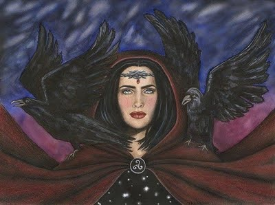 Morrigan, the Irish goddess of battles